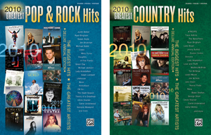 Alfred Publishing releases 2010's greatest rock, country hits songbooks