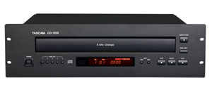 TASCAM Announces the CD-355 Five Disc Rack-Mountable CD Player