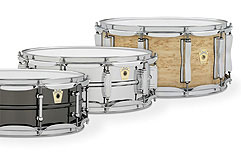 Ludwig Power Trio: Maple Classic, Supraphonic 400 and Black Beauty Snare Drums
