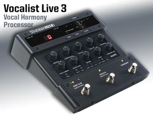DigiTech Vocalist Live 3 adds harmony effects