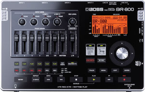 Boss unveils battery-powered BR-800 multitrack recorder