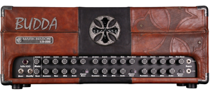 A biker  amp? Budda introduces leather-covered guitar head & cab