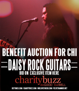 Deftones Sign a Daisy Rock Siren Guitar for Chi Cheng Special Needs Trust Auction
