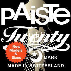 New Twenty Series Models from Paiste