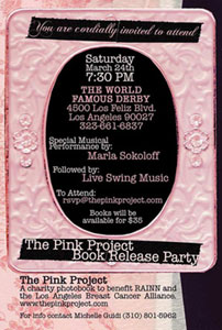"Free Show in Los Angeles! ""The Pink Project"" Photobook Release Party (3/24/07)"