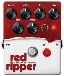 Let 'er rip! Tech 21 unveils Red Ripper bass fuzz