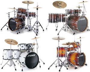 Sonor introduces 4 new drum kit series