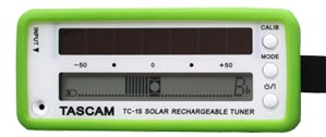 TASCAM offers solar-powered tuner